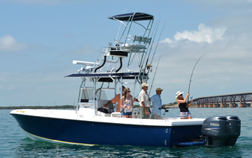 28 foot custom made tarpon fishing boat