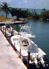 Our Florida Keys charter boats docked at Bahia Honda State Park