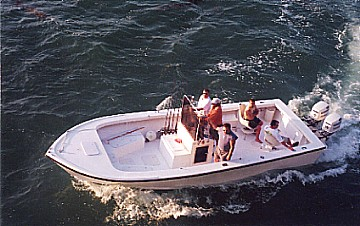 Our roomy tarpon fishing boat
