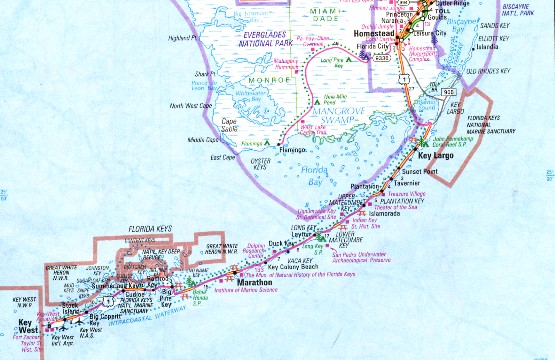 Map Of Florida Keys And Key West.Florida Keys Tarpon Fishing Maps