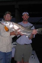 Night fishing for snook and tarpon